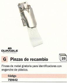ENVASE DE 25 UNIDADES DURABLE PINZAS METAL IDENTIFICADOR CAJA 25 UD 25 UD 8103-26