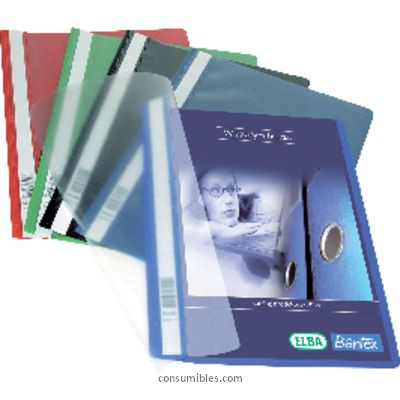 Dossiers con fastener ELBA DOSSIER PAQUETE 20 UD A4 CON FASTENER NEGRO 100550195