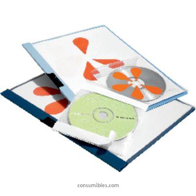 Accesorios de archivo DURABLE FUNDAS POCKETFIX PAQUETE 10 UD TRANSPARENTE PARA CD 492245