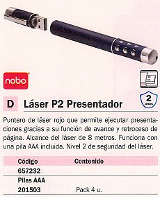NOBO PRESENTADOR MULTIMEDIA LASER P2 USB 1902389