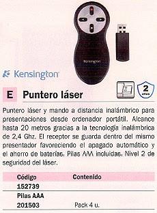 KENSINGTON PRESENTADOR MULTIMEDIA USB 33374EU