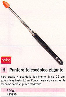 NOBO PUNTERO TELESCÓPICO 22CM HASTA 1.2M PUNTA NARANJA 34438432
