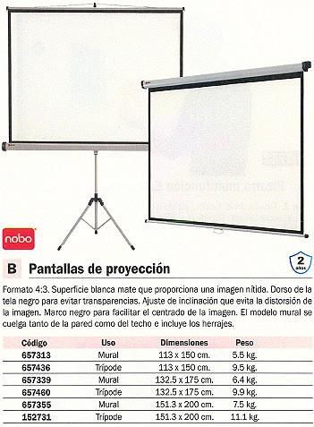 NOBO PANTALLA DE PROYECCION 151,3X200 CM 1902393