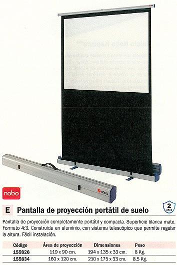 NOBO PANTALLA DE PROYECCIÓN 160X120 CM 1901956