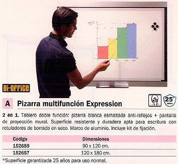 BI OFFICE PIZARRA ELECTRONICA EXPRESSION 120X180 CM EXP270301