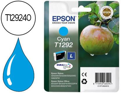 Epson Cartucho de tinta cían C13T12924012 T1292 470 Copias 7ml