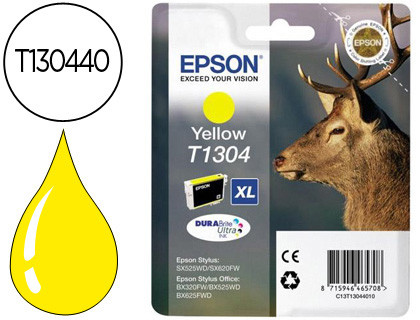 Epson Cartucho de tinta amarillo C13T13044012 T1304 755 Copias 10.1ml