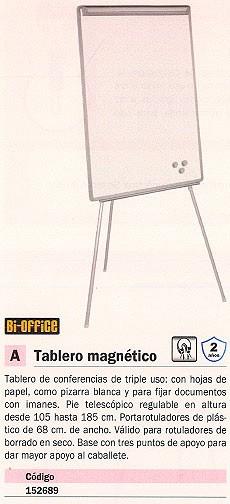 BI OFFICE TABLERO MAGNÉTICO 70X105CM PAPEL-PIZARRA EA2306245
