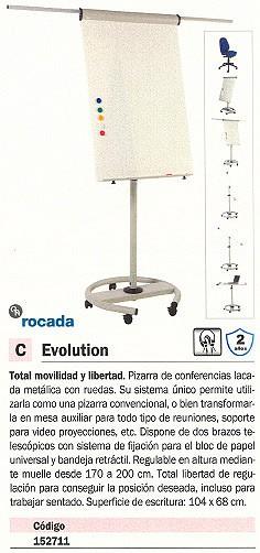 ROCADA PIZARRA CABALLETE EVOLUTION ALT. MAX. 170 A 200 CM RD 618