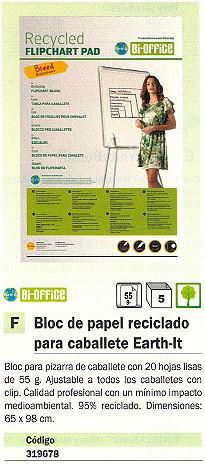 BI-OFFICE BLOC CABALLETE 20 HOJAS 95% RECICLADO 58,5X81 FL0111803