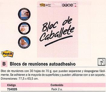 POST-IT BLOC REUNION 30 HOJAS 77,5X63,5 70016066451