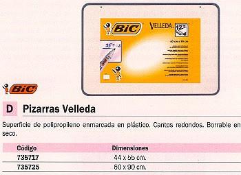 BIC PIZARRA BLANCA VELLEDA 44X55CM BORRABLE EN SECO 1199024513