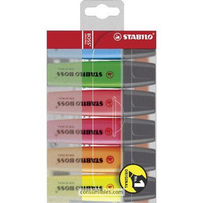 Marcadores fluorescentes STABILO MARCADOR FLUORESCENTE BOSS ORIGINAL ESTUCHE 6 UD TRAZO 2-5MM COLORES SURTIDOS BOSS70/6