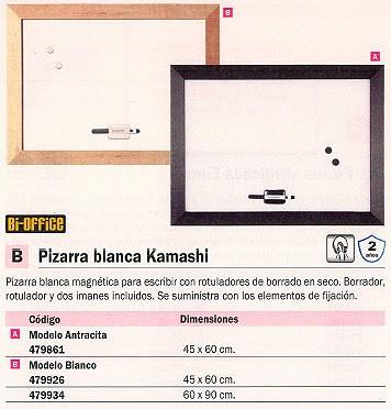 BI OFFICE PIZARRA MAGNETICA BLANCA KAMASHI 45X60 PBKN4560