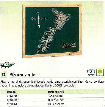 FAIBO PIZARRA VERDE 80X120 MARCO MADERA 403-2IND