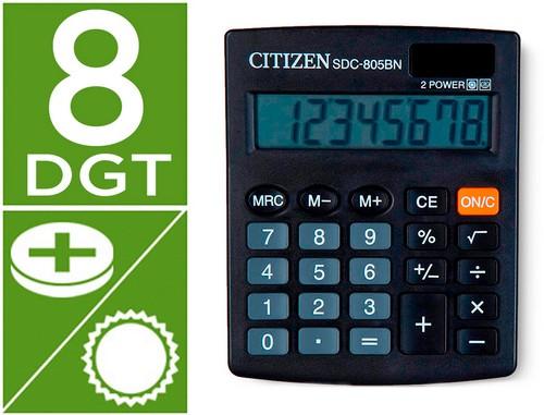 Calculadoras de sobremesa CITIZEN CALCULADORA CITIZEN SOBREMESA SDC-805 BN 8 DIGITOS