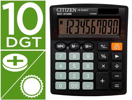 Calculadoras de sobremesa CITIZEN CALCULADORA CITIZEN SOBREMESA SDC-810 BN 10 DIGITOS