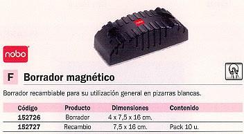 NOBO BORRADOR MAGNETICO 4X7,5X16 CM 34533421