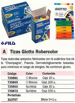 FILA PORTATIZAS GIOTTO ROBERCOLOR BLISTER 5+1 UD 692300