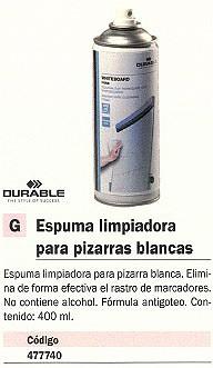 DURABLE ESPUMA LIMPIADOR WHITEBOARD FOAM 400ML FORMULA ANTIGOTEO 5756