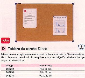 NOBO TABLERO DE CORCHO ELIPSE 45X60 MARCO ALUMINIO 1900918