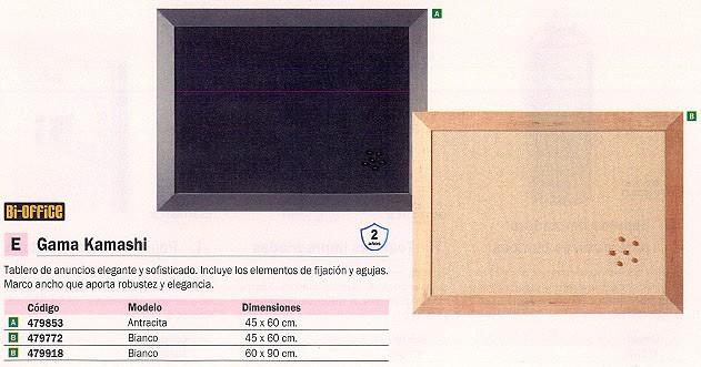 BI-OFFICE TABLERO TAPIZADO 45X60 CM ANTRACITA MARCO ANCHO FB04361002