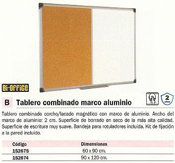 BI OFFICE TABLERO PIZARRA MAGNETICA BANDEJA INCLUIDA XA0303178