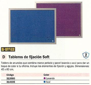 BI-OFFICE TABLERO TAPIZADO SOFT 45X60CM LAVANDA FB0469608