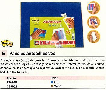 POST-IT TABLERO ADHESIVO 46X58,5 CM AZUL FT510095969