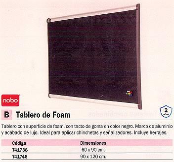 NOBO TABLERO FOAM 90X120CM IDEAL CHINCHETAS Y SEÑALIZADORES QBPF1290