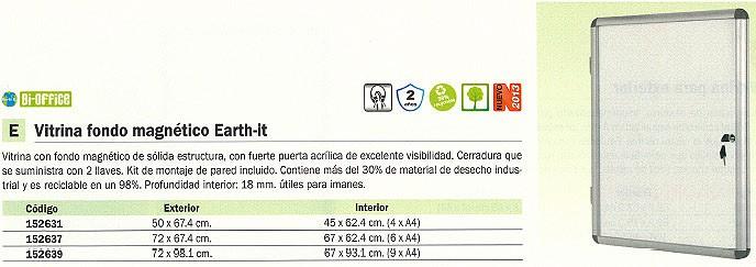 BI OFFICE VITRINA FONDO MAGNETICO 50X67,4 CM PUERTA ACRILICA CERRADURA CON LLAVE RVT610109150