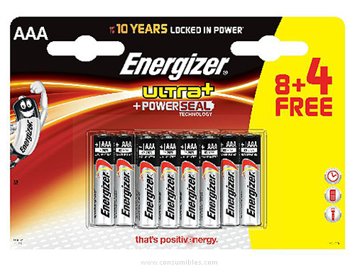 ENERGIZER PILAS ALCALINAS ULTRA+ 8+4 UD AAA BLISTER 285581