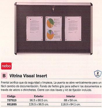 NOBO VITRINA VISUAL INSERT 96,5X66,5 CM EXT. 88X58 CM INT. 31333500