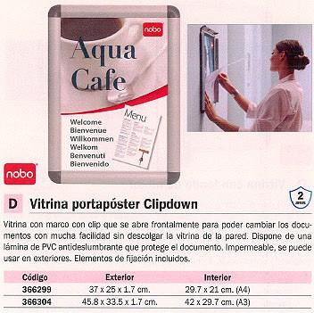 NOBO VITRINA CLIPDOWN 45,8X33,5X1,7 CM EXT. A3 INT. 1902213