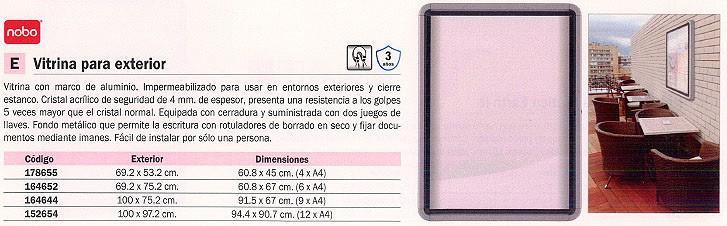 NOBO VITRINA EXTERIOR 69,2X75,2 MAGNETICO 1902578