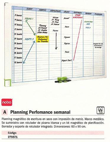 NOBO PLANNING MAGNETICO SEMANAL 60X90 CM 3048201