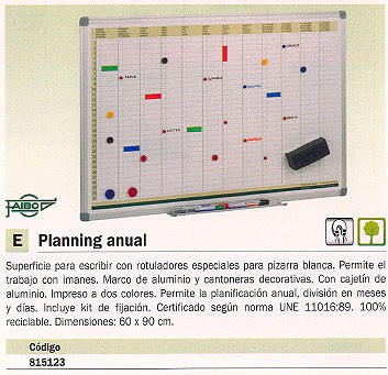 FAIBO PLANNING MAGNETICO ANUAL 60X90 CM PLA