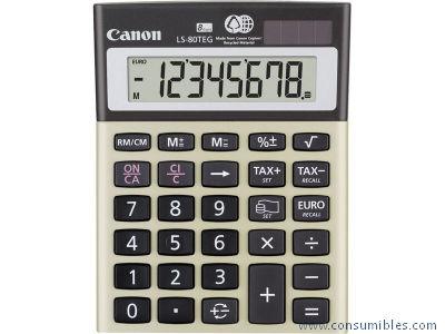 Calculadoras de sobremesa CANON CALCULADORA SOBREMESA LS 80TEG 8 DIGITOS IMPUESTOS Y FINANCIERO SOLAR -PILAS 4423B002