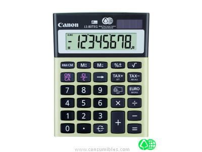 CANON CALCULADORA SOBREMESA LS 80TEG 8 DIGITOS IMPUESTOS Y FINANCIERO SOLAR -PILAS 4423B002