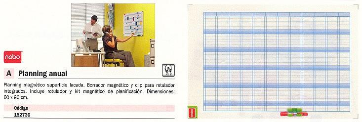 NOBO PLANNING MAGNETICO ANUAL 60X90CM CON BORRADOR-ROTLADOR-KIT 3048001