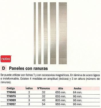 NOBO PANEL PLANNINGS 955X96 INDICE 3 54 RANURAS 1900404
