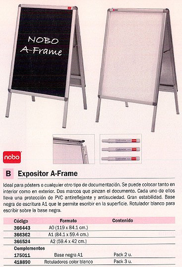 NOBO EXPOSITOR CABALLETE BASE NEGRA 1902436