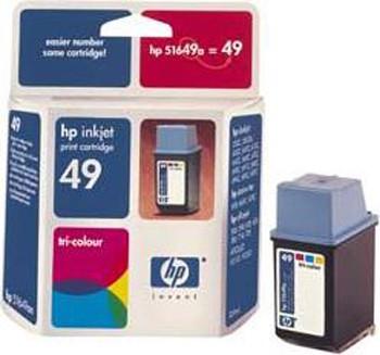 Cartucho de tinta CARTUCHO DE TINTA TRICOLOR DE ALTA HP Nº 49