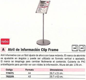 NOBO ATRIL INFORMACION A4 178 CM ANTIREFLECTANTE 1902383