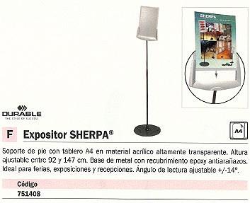 DURABLE EXPOSITOR DE PIE CON TABLERO SHERPA A4 HASTA 147CM 5589-57