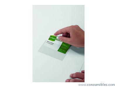 Bolsillos adhesivos DURABLE BOLSILLO ADHESIVO POCKETFIX PAQ.100 UD 57X90 ADHESIVO APERTURA SUPERIOR TRANSPARENTE 519626