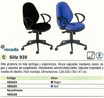 ROCADA SILLA 939 GIRATORIA SINCRO BASCULANTE AZUL RD 939/3
