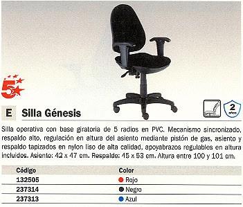 5 ESTRELLAS SILLA PARÍS REGULABLE AZUL 1007AZ