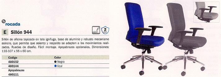 ROCADA SILLONES DE DIRECCIÓN 944 NEGRO BASCULANTE 2 POSICIONES RD 944/4