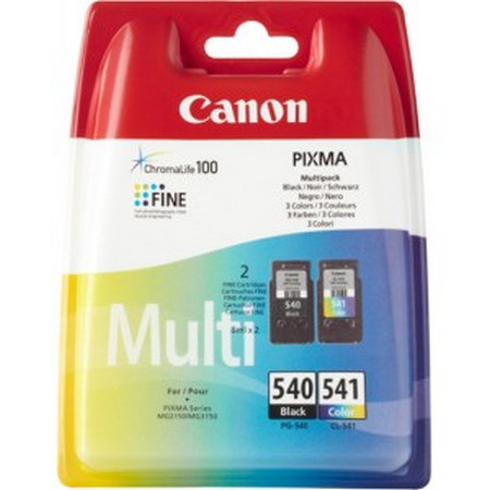 CARTUCHO DE TINTA NEGRO-COLOR PACK 2 CANON PG-540-CL-541